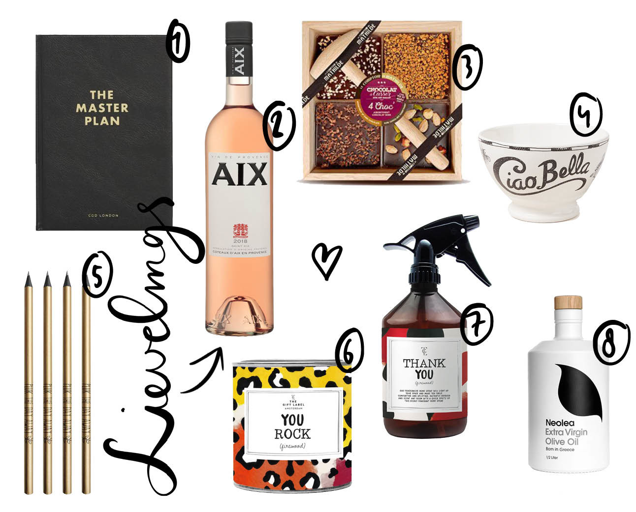 shopping cadeautjes voor meesters en joffen, spray, kaars, aix rose, the master plan