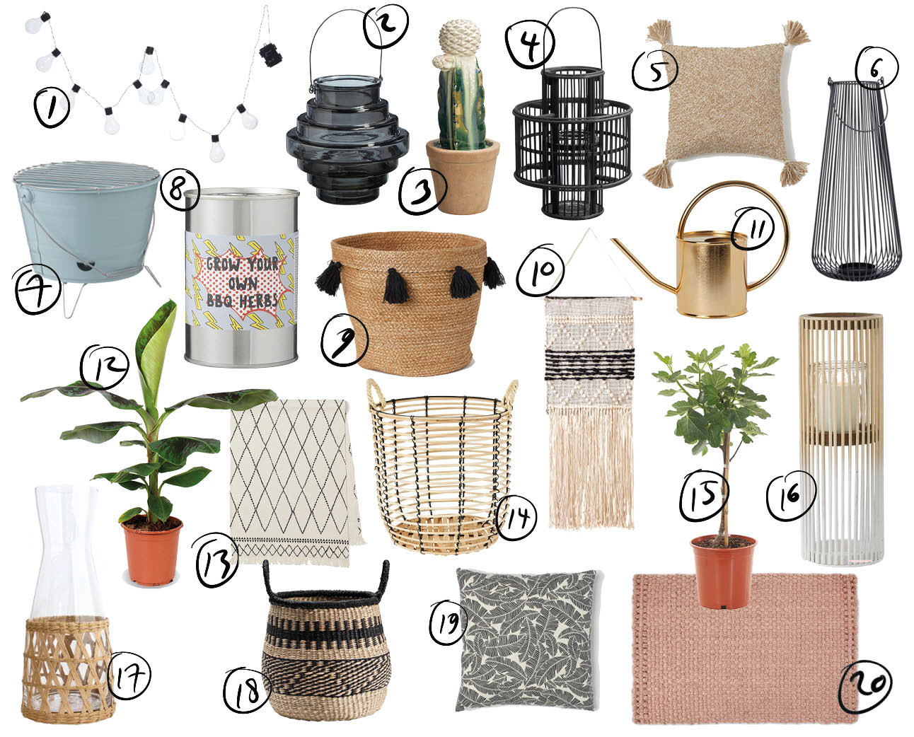 shopping items voor je tuin
