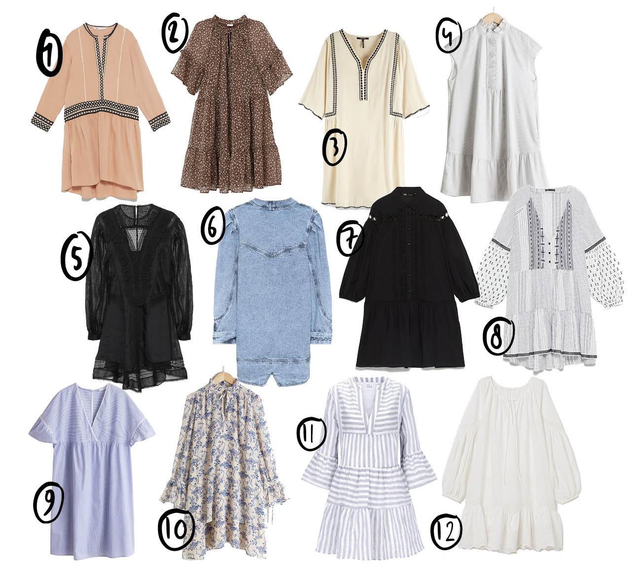 shopping tuniek jurken