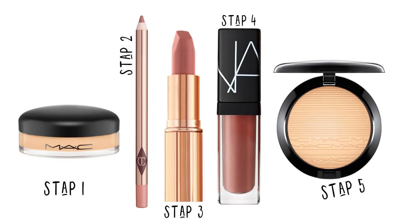 Mac cosmetics, Charlotte Tilbury Nars lipstick en liner