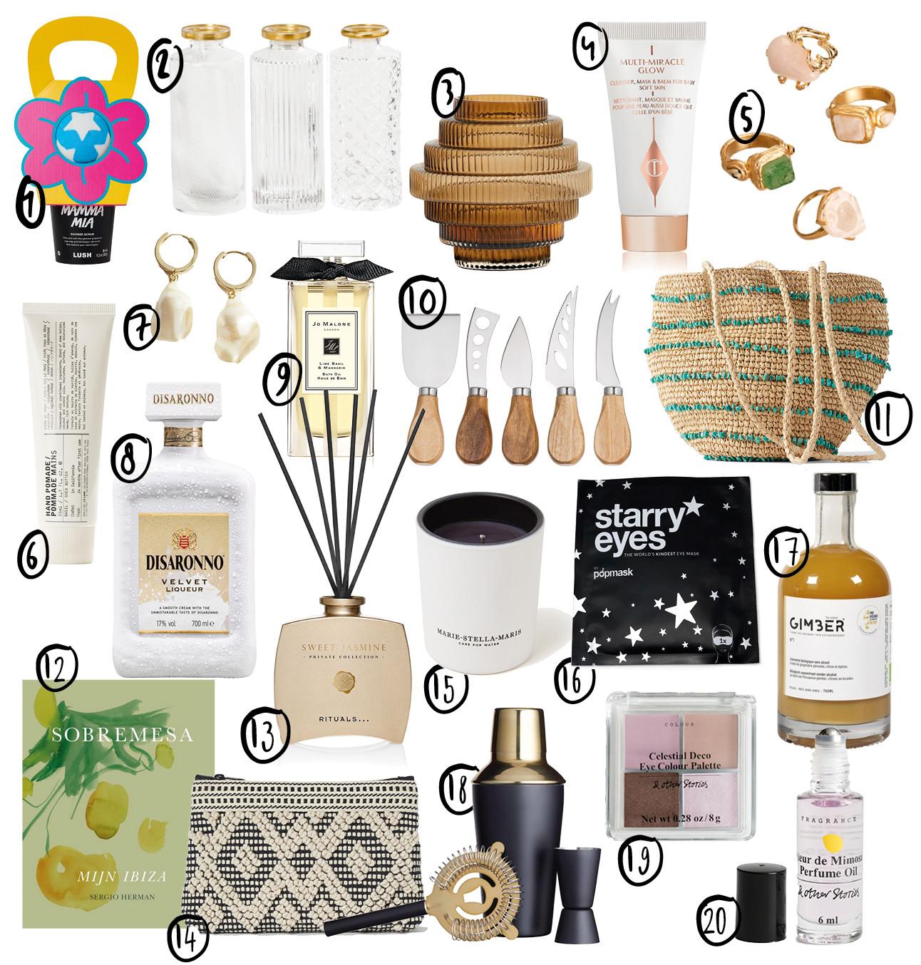 moederdag shopping items