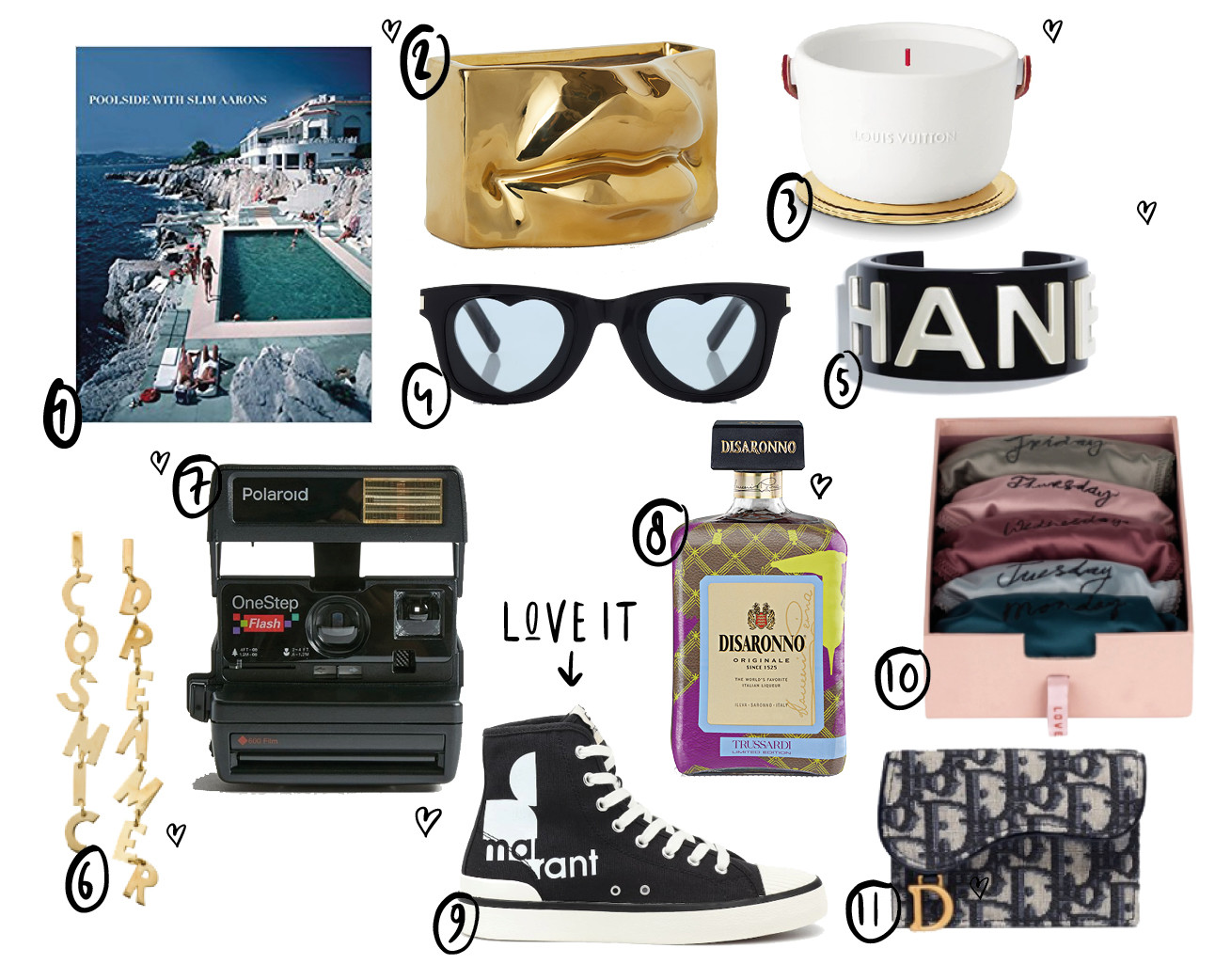 shopping items voor valentijnsdag Louis Vuitton Isabel Marant Chanel armband geurkaars H&M