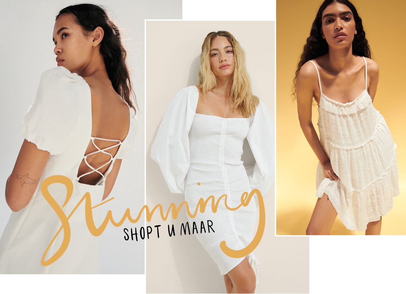 De white summer dress edit