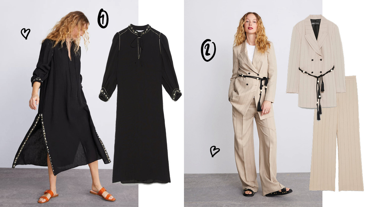 zara mum collectie shopping jurken blazers model