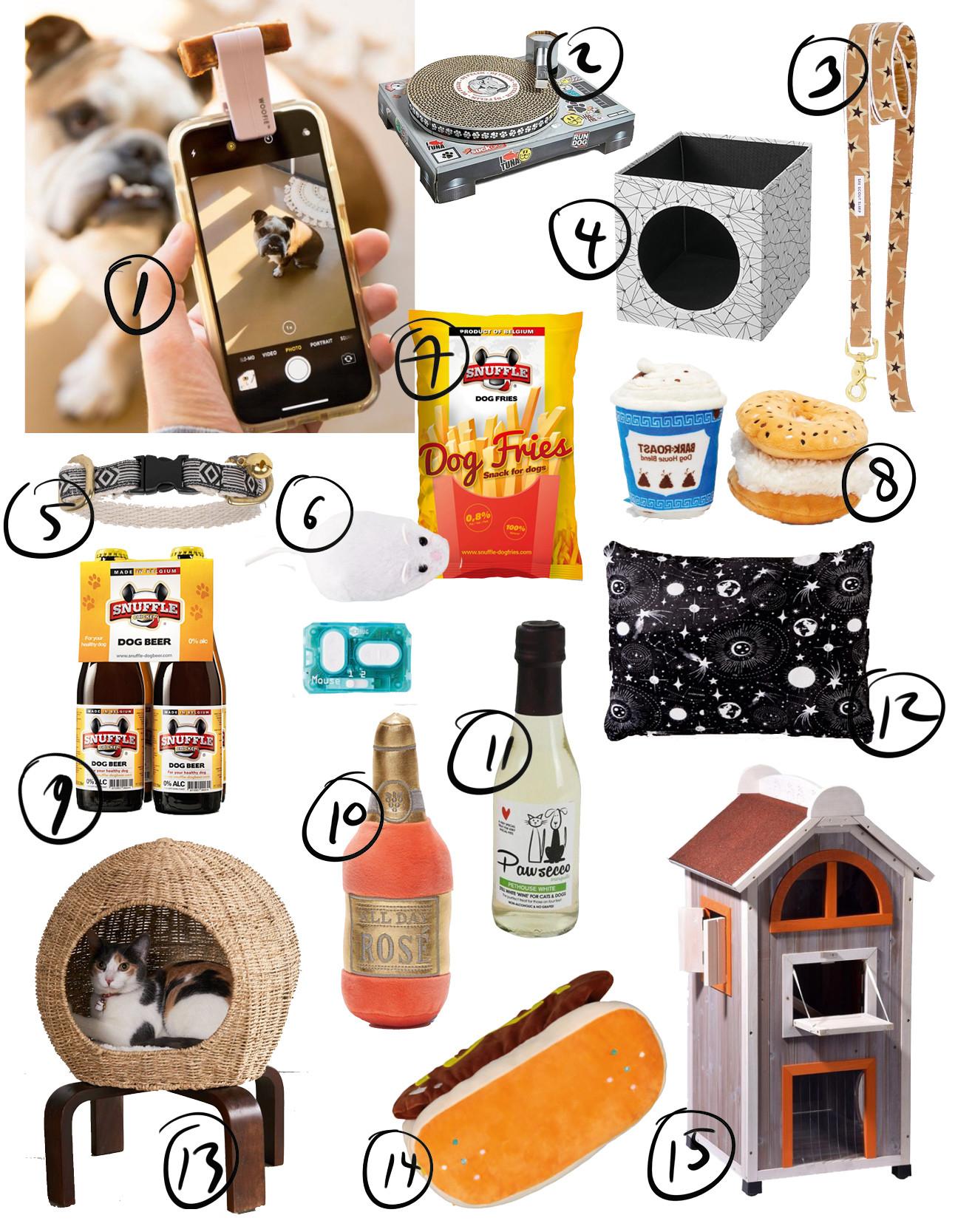 alleenmaal spulletjes die te maken hebben met dierendag zoals hondenfrietjes, kussen en huisjes voor je dier