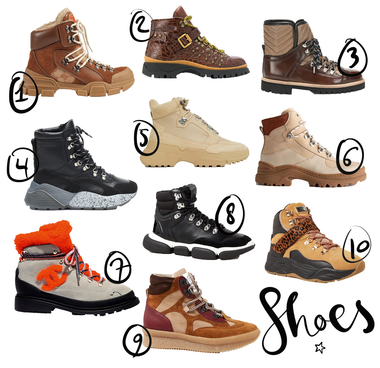 shopping hiking boots