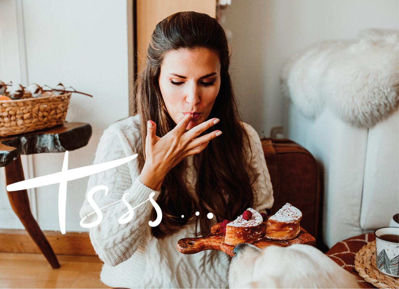 vrouw aan het eten