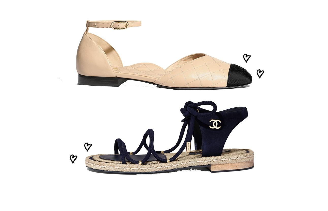 Nieuwe schoenen van chanel