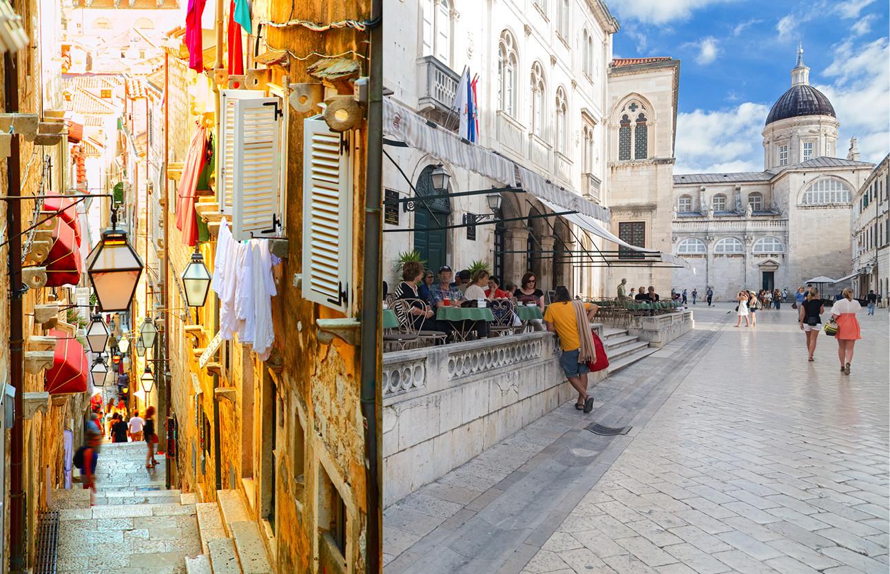 beelden van de stad dubrovnik