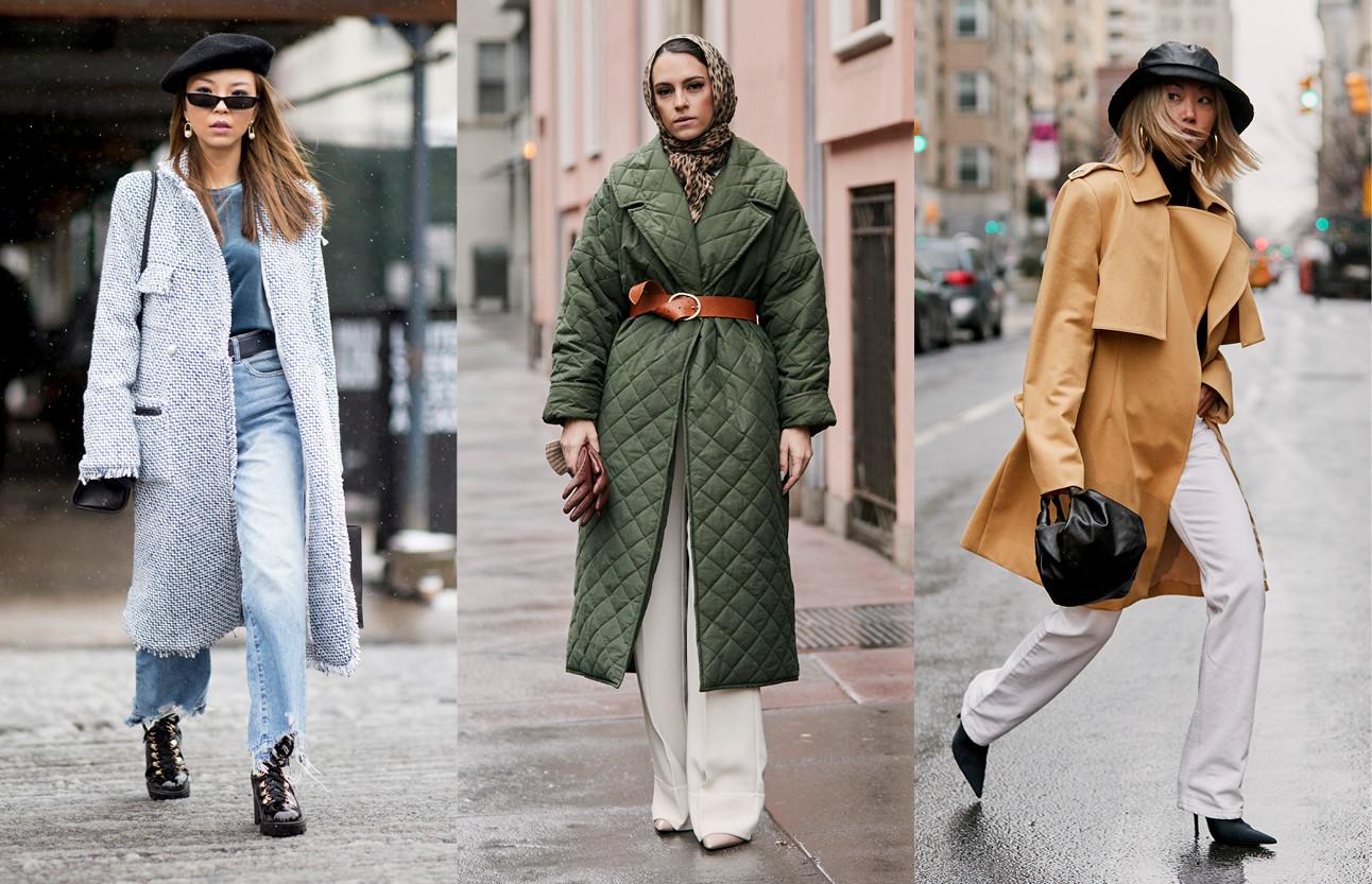 inspiratie beelden van meiden in de grote stad met warme kleding aan