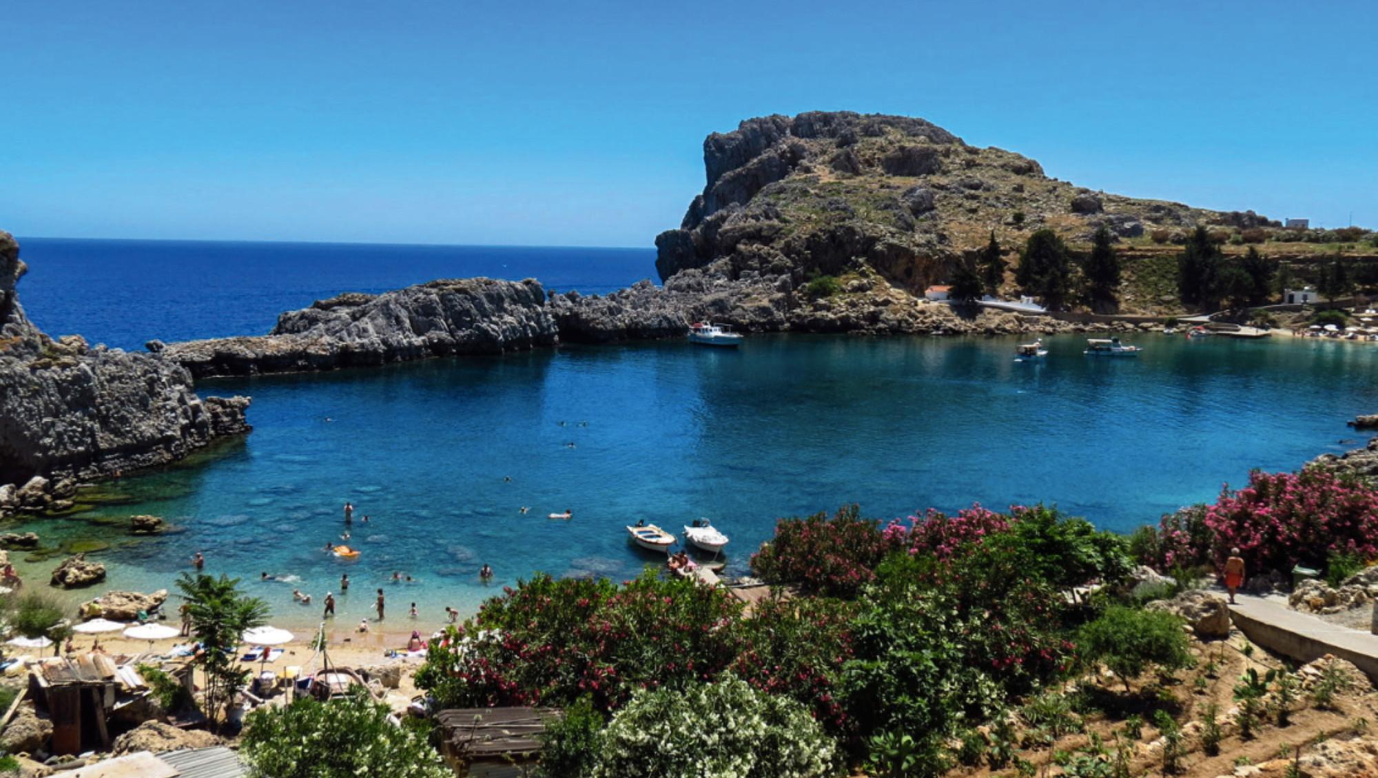 Het griekse eiland Lindos