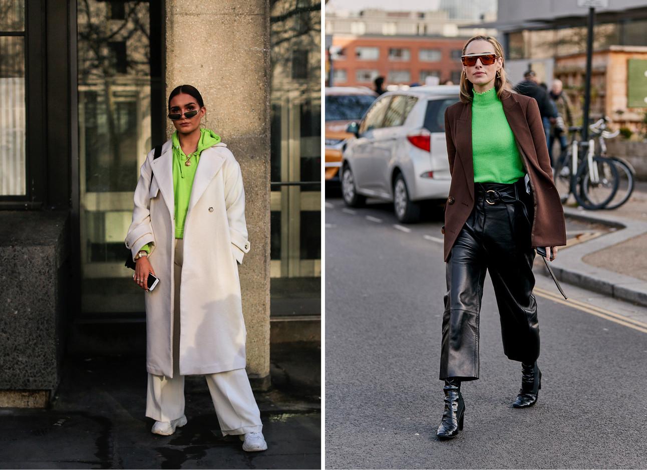 de neon trend voor de winter