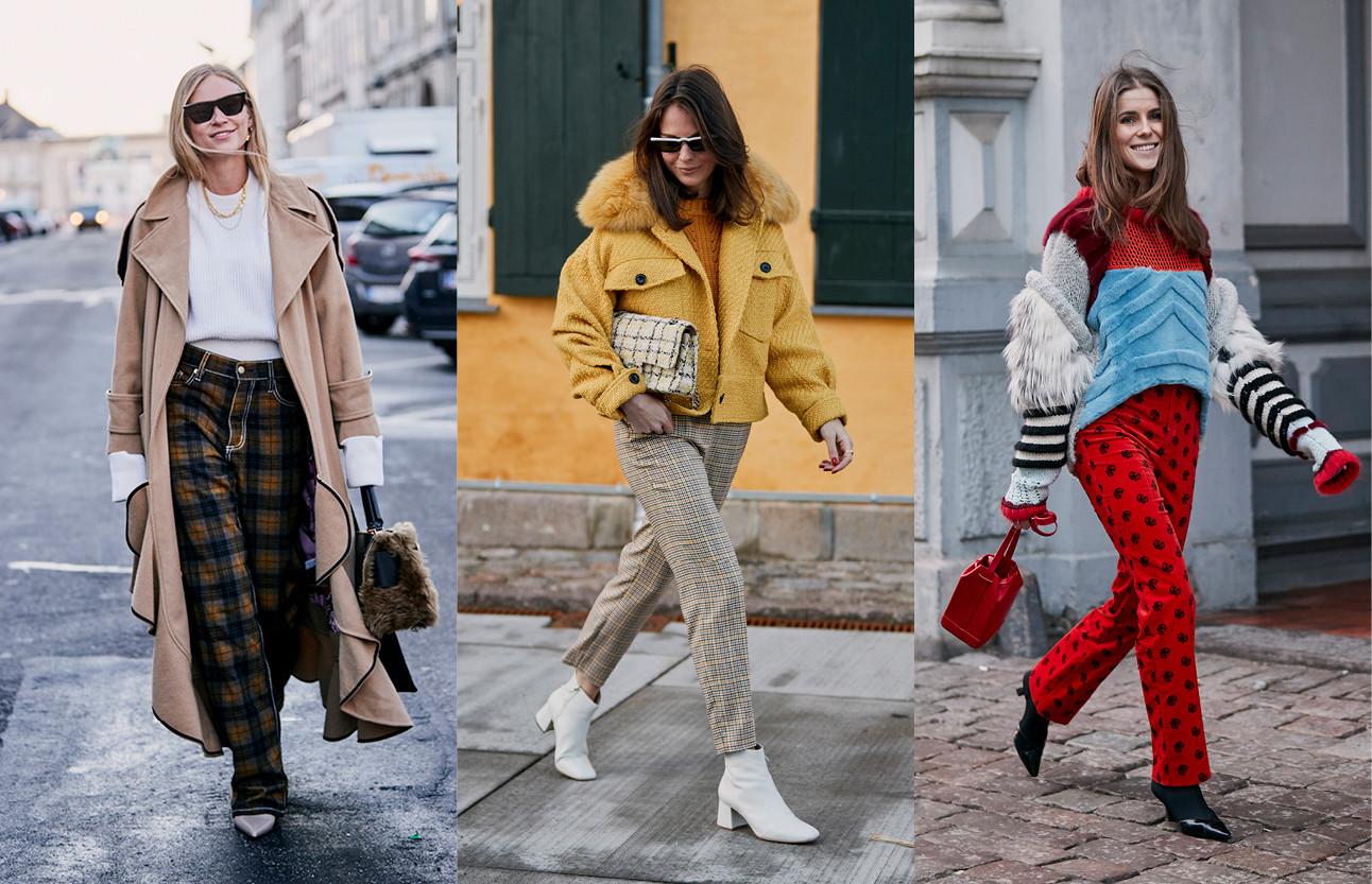 meiden die de nieuwe modetrends van november laten zien