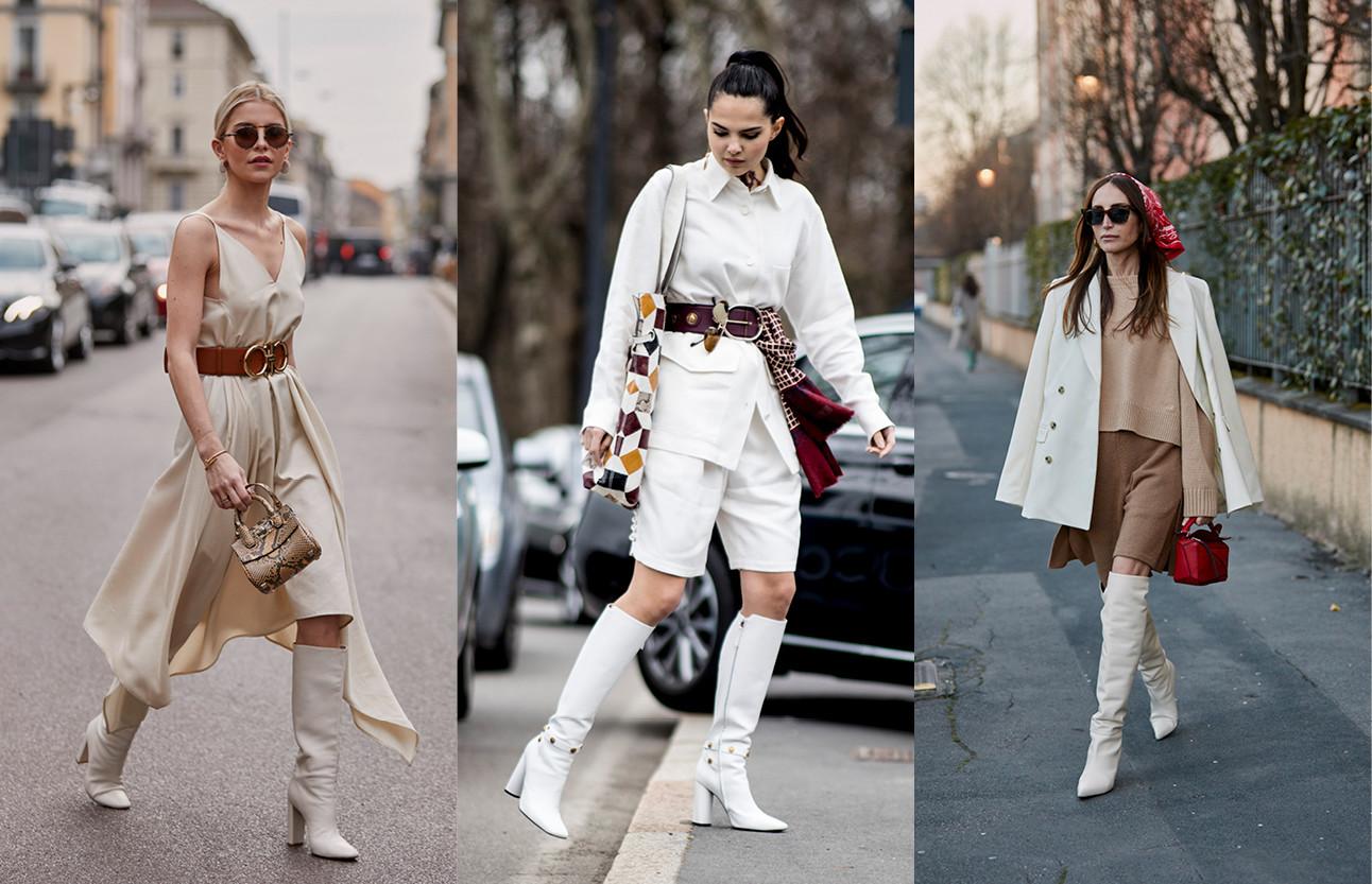 beelden van de nieuw mode trend met hoge laarzen