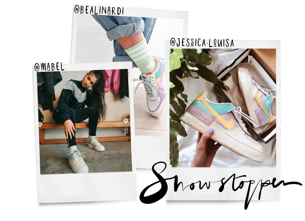 de nieuwe sneaker trend van nike de pastel shadows