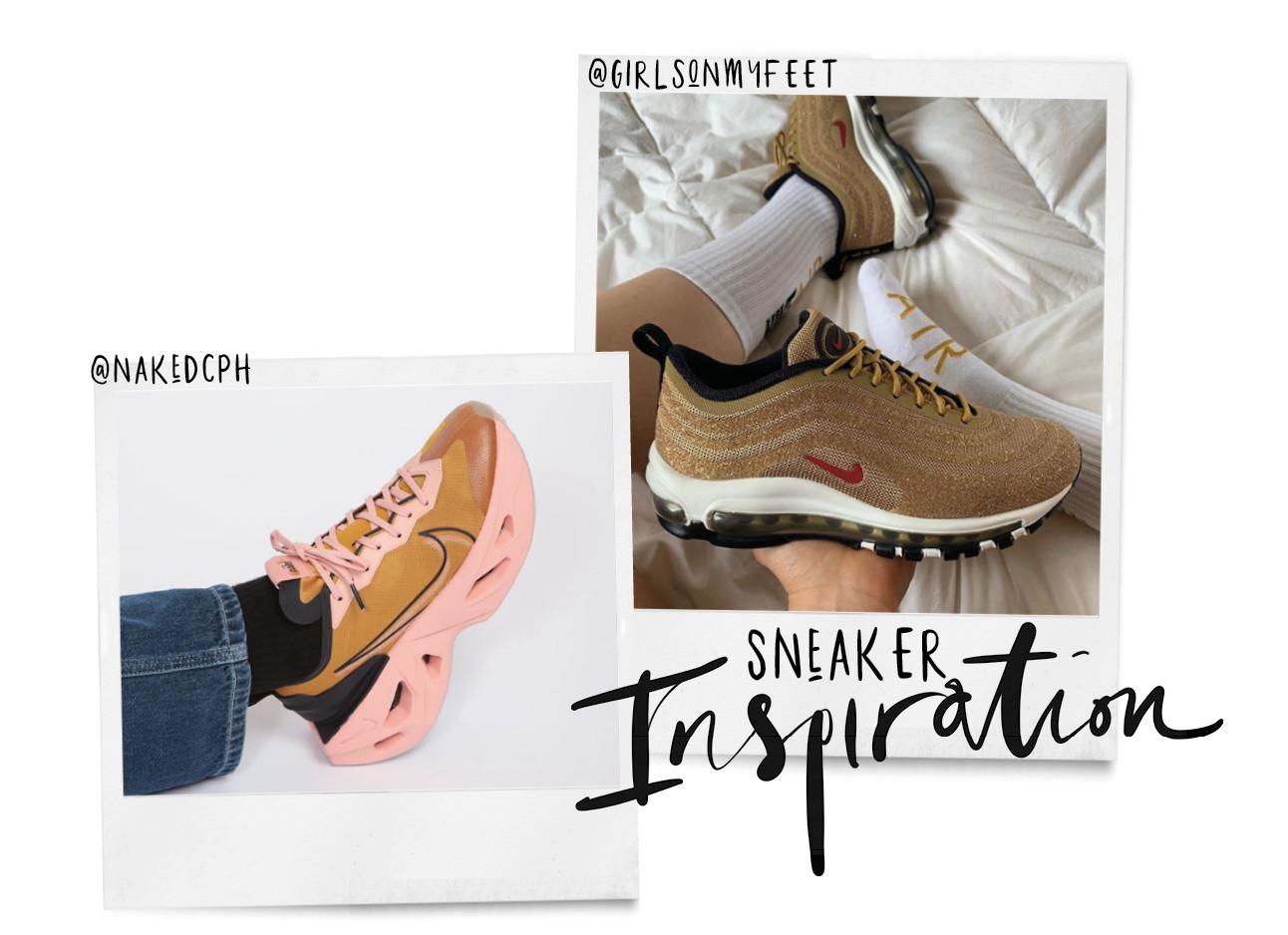 verschillende sneakers op instagram