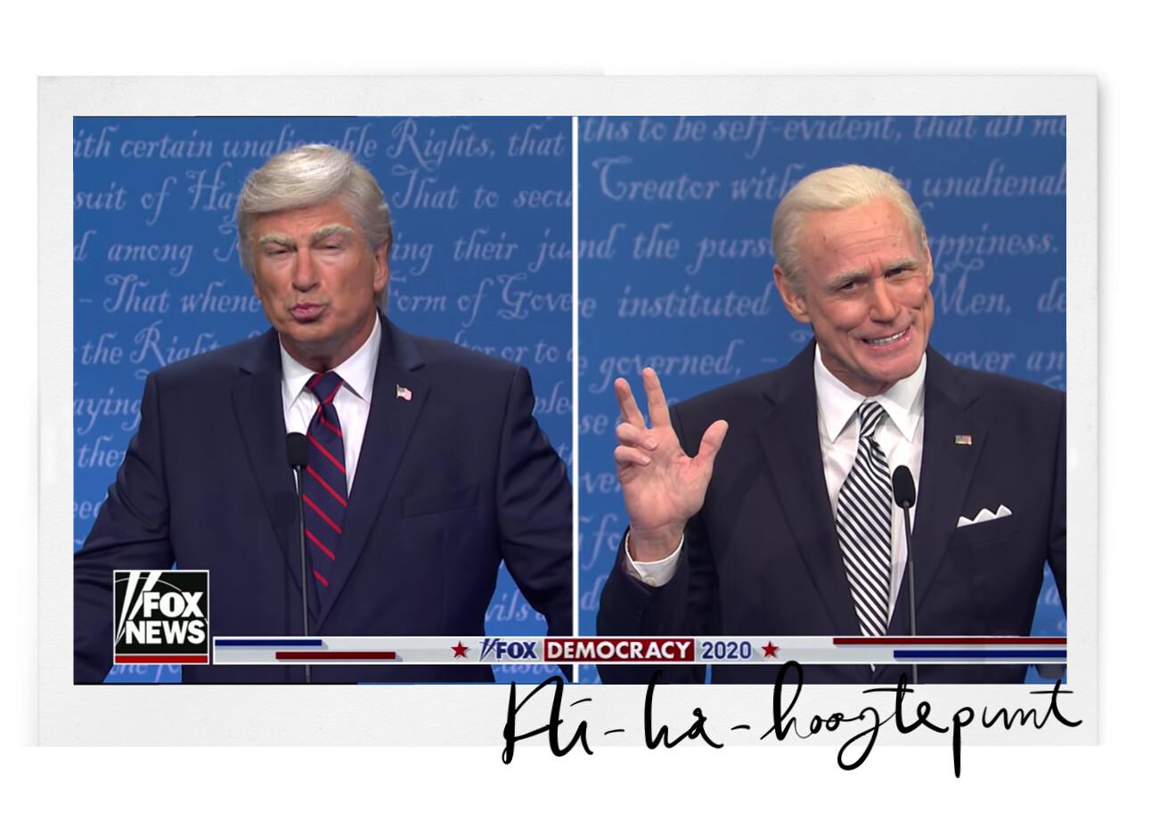 Hi-la-risch: SNL doet het Amerikaanse debat na