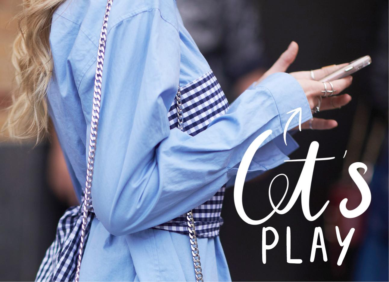 blauwe blouse mobiel