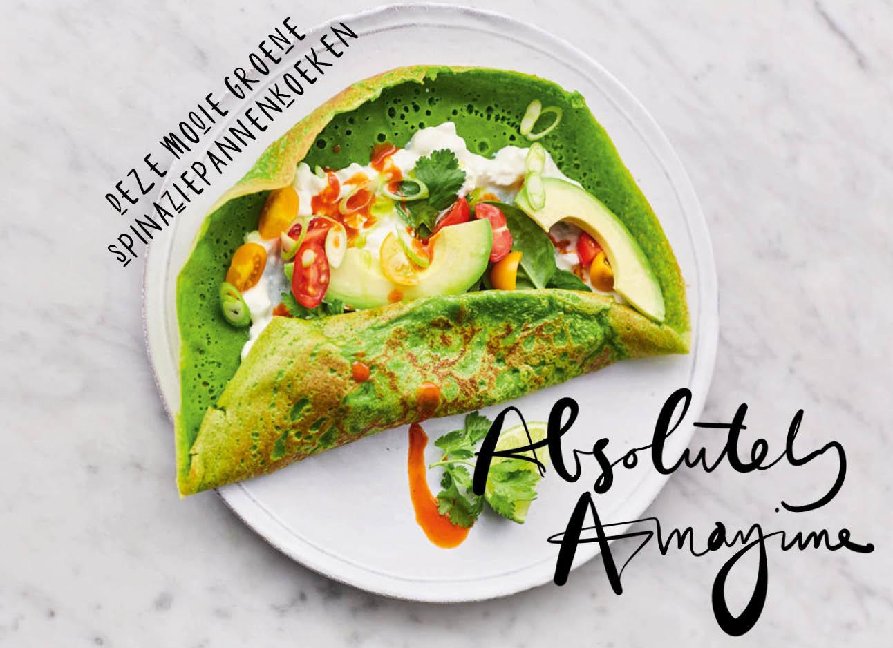 Maken: gezonde spinaziepannenkoekjes met avocado