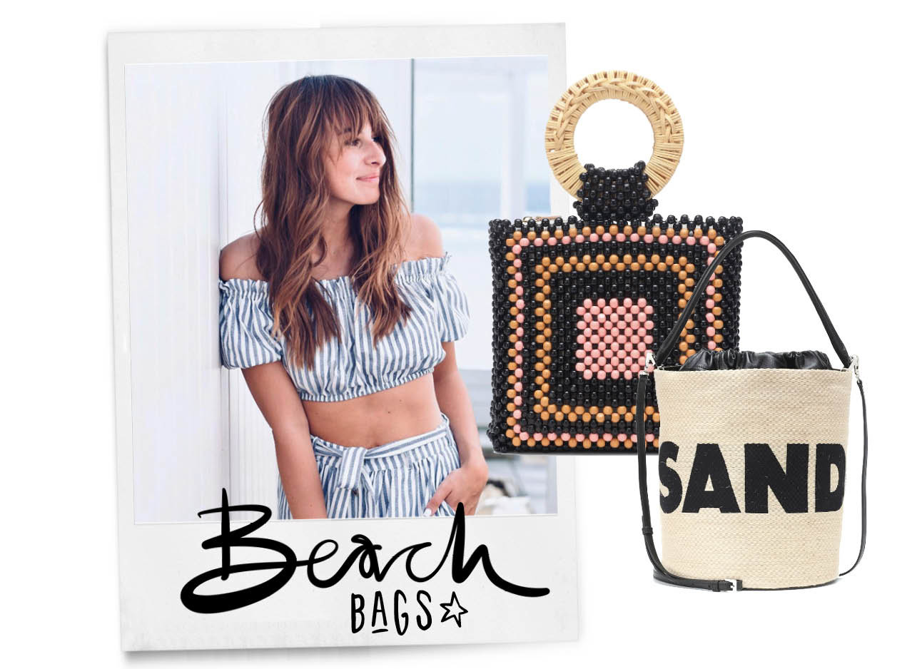 Lilian Brijl lachend met shopping strandtassen