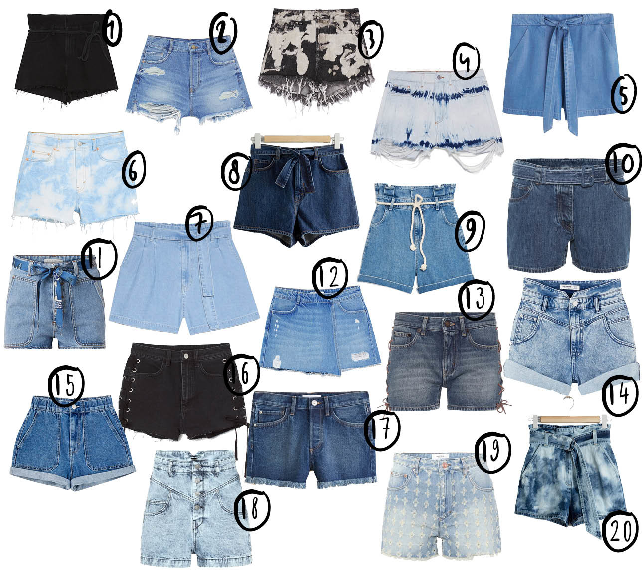 shopping denim shorts