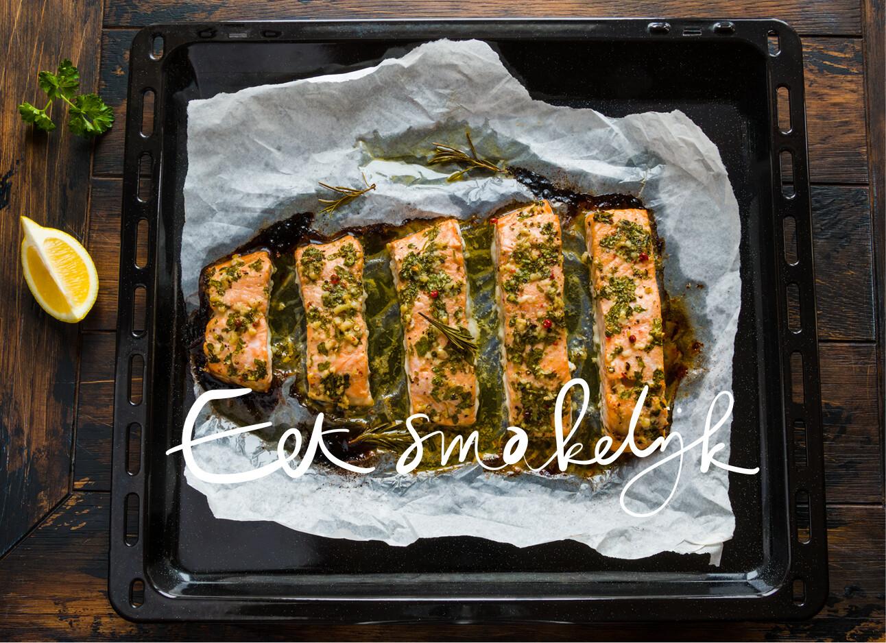 zalm uit de oven met pesto