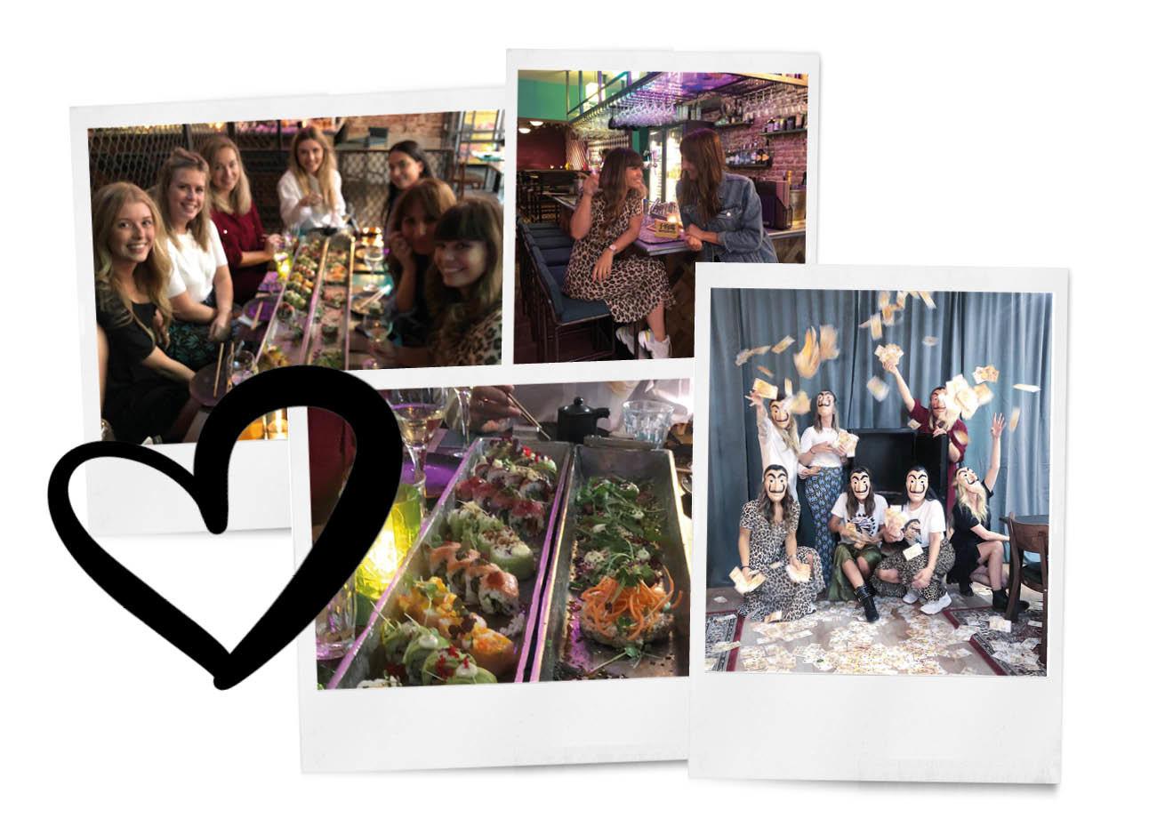 team amayzine in utrecht sushi eten aan tafel en la casa di papel