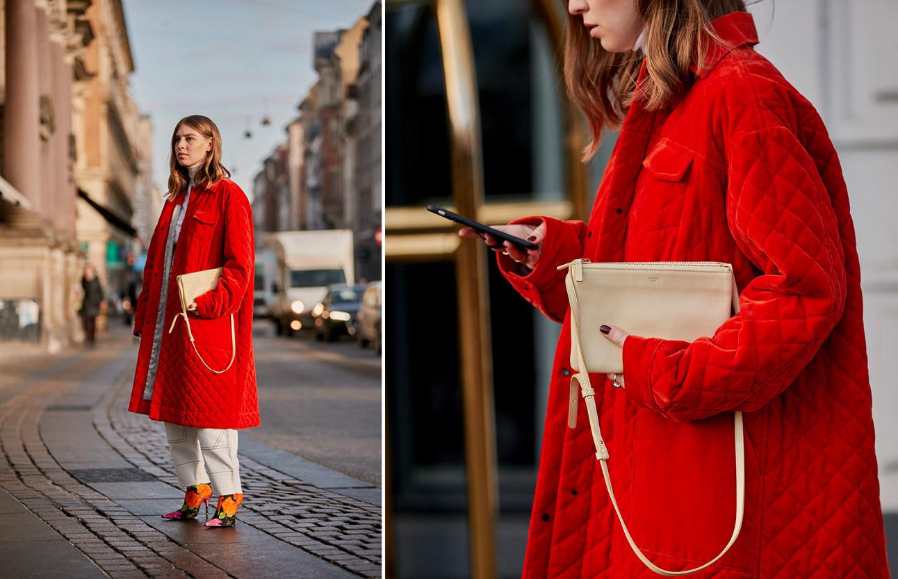 Vrouwen lopend over straat met de fashionweek
