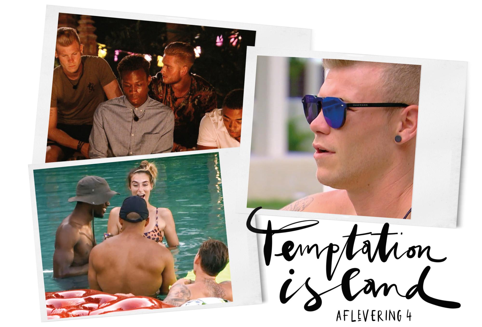 temptation island brabbels beelden uit de aflevering van de kandidaten
