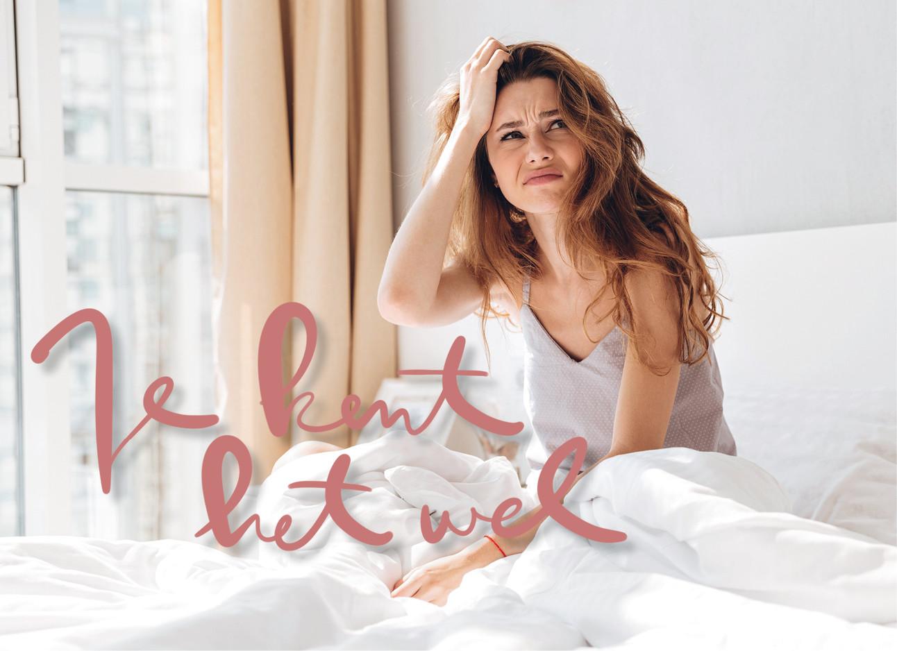Vrouw verward in bed