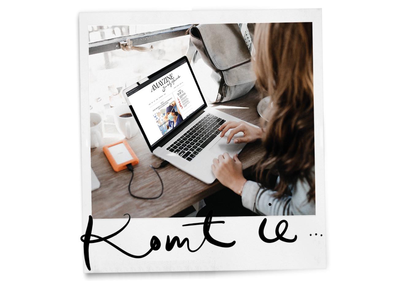 vrouw achter laptop thuis werken