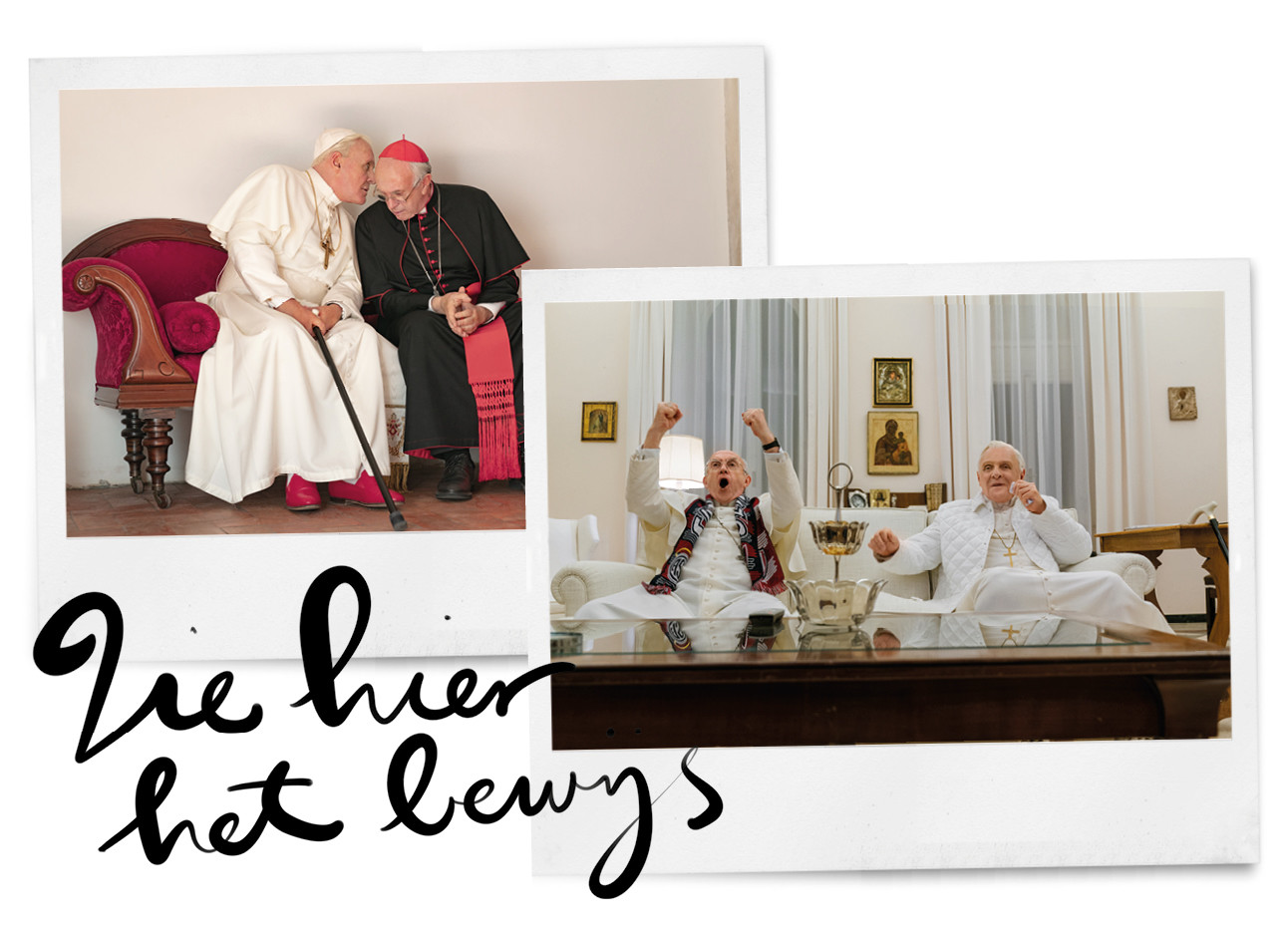 beeld uit de film the two popes