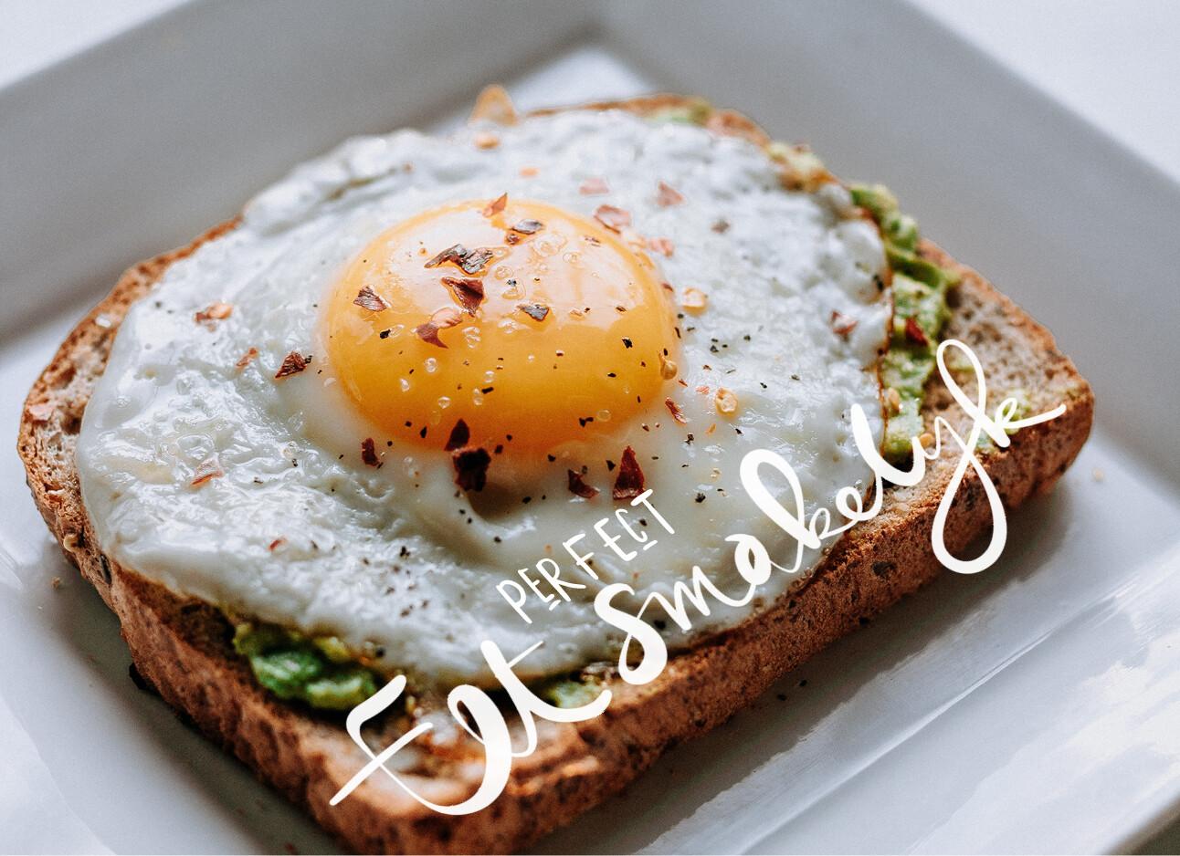 gebakken ei op boterham