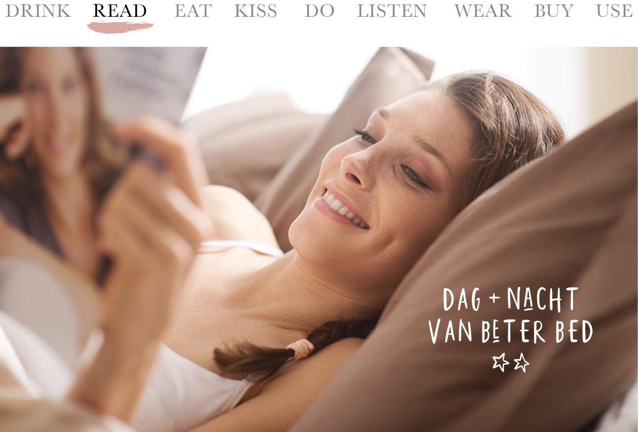 vrouw in bed lezen beter bed
