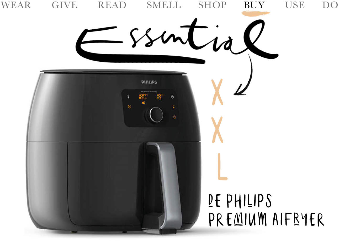 Today we buy de Airfryer XXL