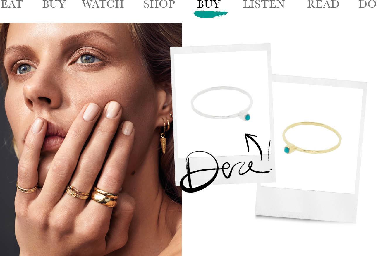 today we buy by1oak zilver ring met blauw steentje