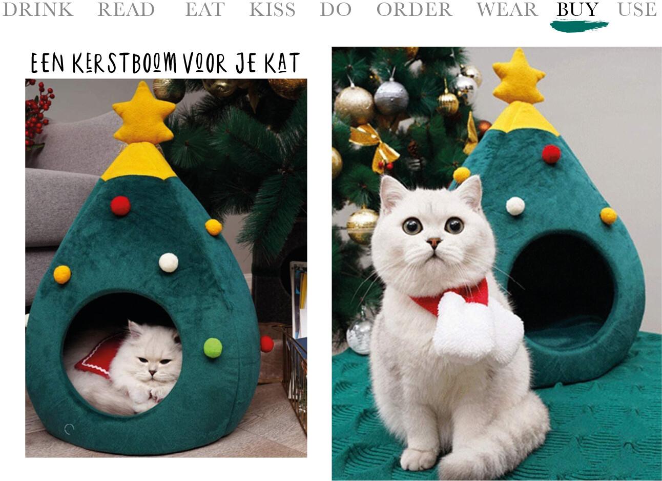 Een kerstboom voor je kat