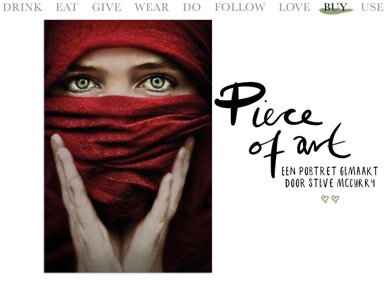 Steve McCurry kunstwerk voor aan de muur