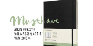 Today we buy een moleskine planner