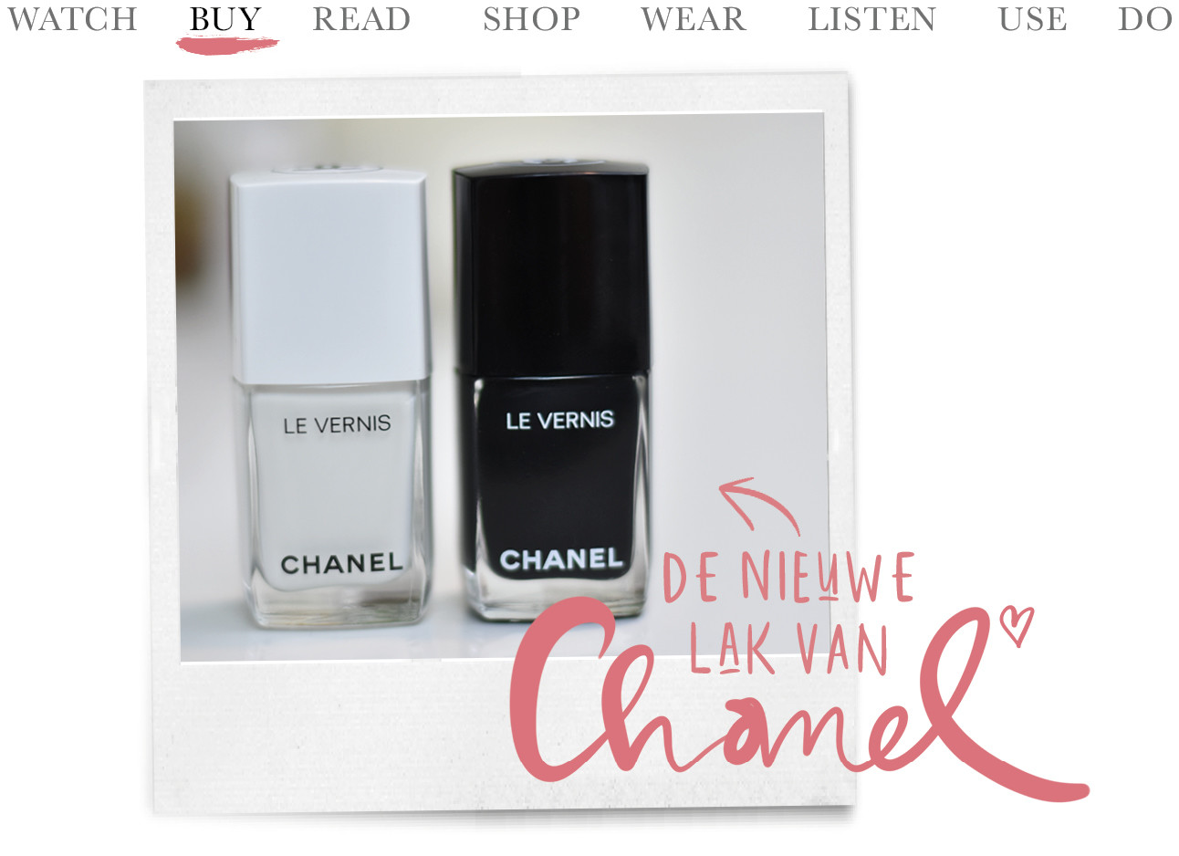 chanel le vernis pure white pure black