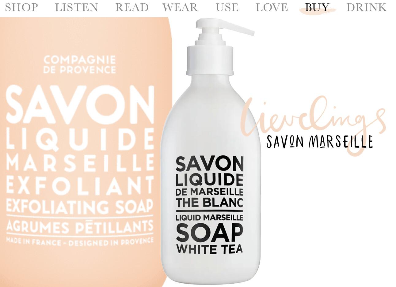 Today we buy savon Marseille