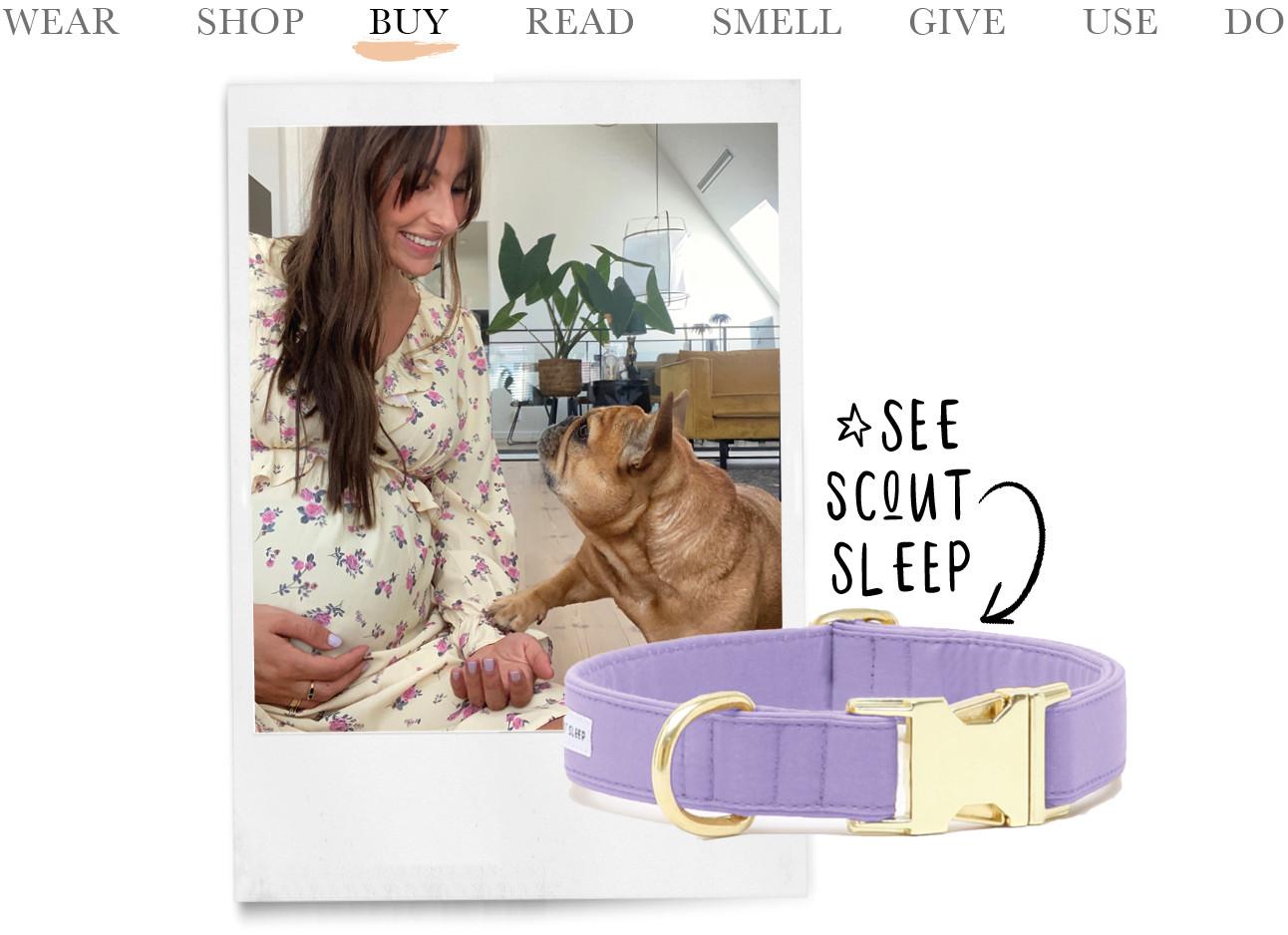 see scout sleep paarse halsband lilian nola