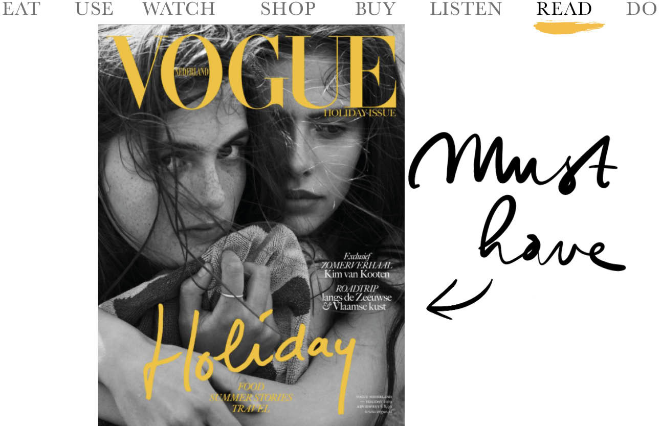 cover van de vogue holiday issue