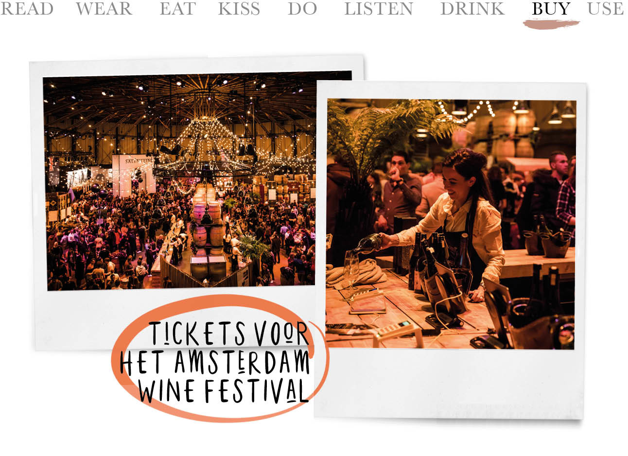 Today we buy tickets voor het Amsterdam Wine Festival