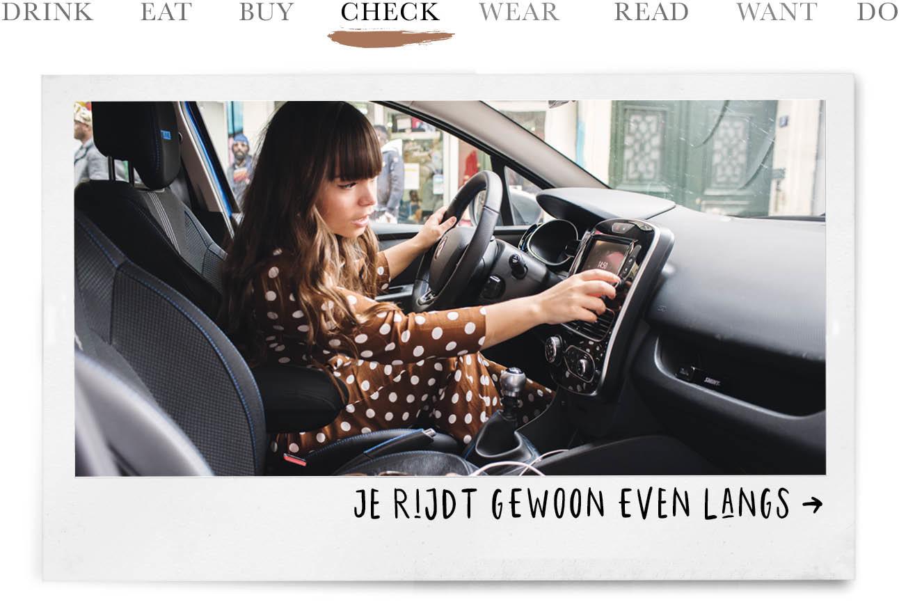 today we check renault airco kiki in parijs in de auto draaien aan de radio