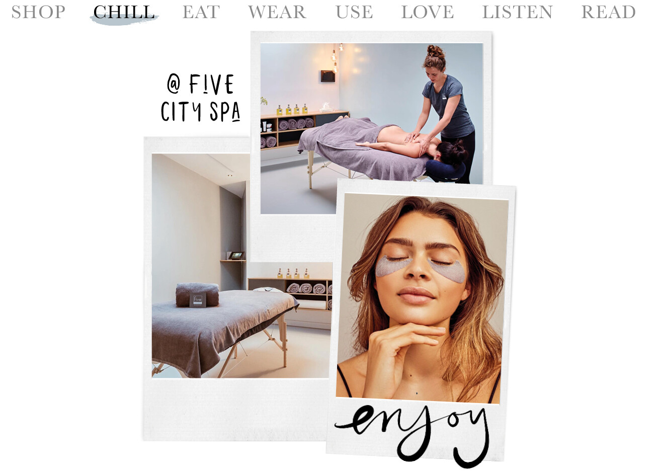 today we chill at five spa
