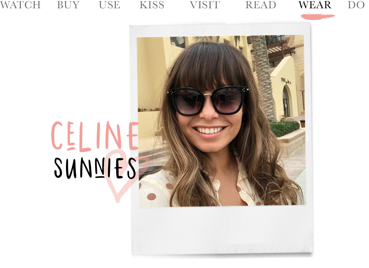 kiki duren, today we wear celine sunnies