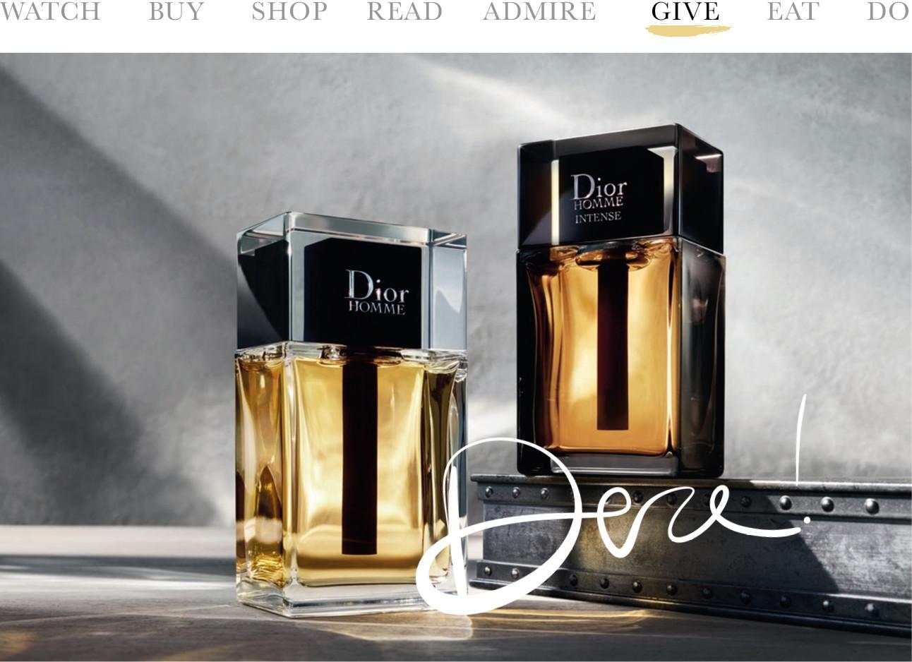 Parfumflessen Dior Homme