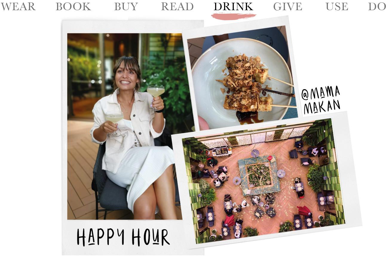 @ Mama Makan Happy Hour kik ilachend met drank en sate
