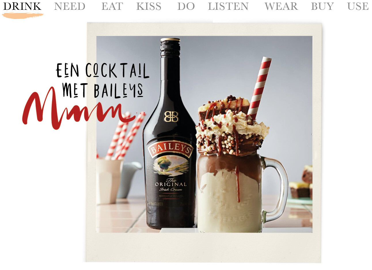 Today we drink een cocktail met Baileys
